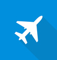 Air Plane Flat Design with Long Shadows vector image vector image