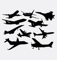 Airplane transportation silhouette vector image vector image