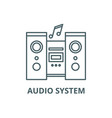 audio system line icon audio system vector image