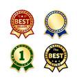 award ribbon the best seller vector image vector image