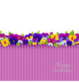 Background With Color Pansies vector image vector image