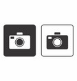 black and white cameras vector image vector image