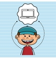 boy cartoon cap icon vector image vector image