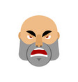 brutal man angry emoji men face aggressive vector image