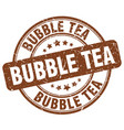 bubble tea brown grunge round vintage rubber stamp vector image vector image