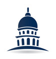 capitol building usa icon vector image vector image