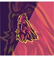 chicken esport mascot logo design vector image vector image