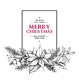Christmas garland hand drawn vector image vector image