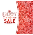 Christmas sale doodle seamless pattern like lace vector image vector image