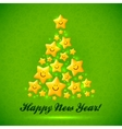 Christmas tree made from yellow cute shining vector image vector image