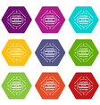 clothes button plastic icons set 9 vector image vector image