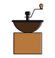 coffee grinder machine icon vector image vector image