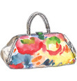 colored handbag watercolor vector image