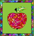 colored image of apple vector image