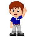 Cute boy cartoon