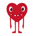 cute heart emoji smiling face icon smiley vector image