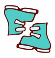 doodle ski boots vector image