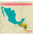 Editable Central America map with all countries vector image