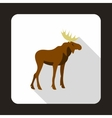 Elk icon flat style vector image vector image