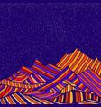 fantastic hippie style psychedelic landscape vector image vector image
