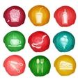 Fast food icon watercolor vector image vector image