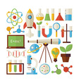 Flat Style Collection of Science and Education vector image vector image