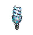fluorescent energy saving light bulb from a splash vector image vector image