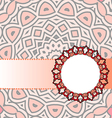 frame red mandala vector image vector image