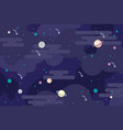 galaxy outer space background vector image vector image