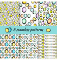 hand drawn easter eggs pattern on white vector image vector image