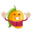 happy mango on white background vector image vector image