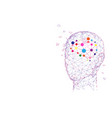 human head and brain creation and idea concept vector image vector image