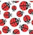 ladybug pattern seamless baornament vector image