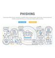 linear phishing vector image