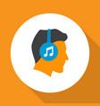listen icon flat symbol premium quality isolated vector image vector image