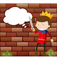 Little Prince holding sword vector image vector image