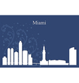 Miami city skyline on blue background vector image vector image