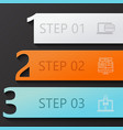 modern 3 steps infographics vector image vector image