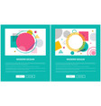 modern design pages set on vector image vector image