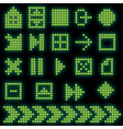 monochrome fluorescent dotbased icon set vector image vector image