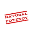 Natural Potency Watermark Stamp vector image vector image