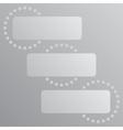 Paper Banner Mockup Cogwheel Gear Icon vector image vector image