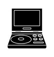 portable videogame console vector image vector image