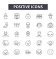 positive line icons signs set outline vector image vector image