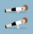 push up exercise vector image vector image