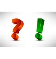 question and exclamation marks vector image vector image