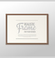 realistic frame for paintings or photographs vector image vector image