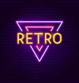 retro neon label vector image