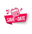 save date label calender web banner element vector image
