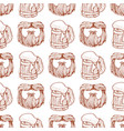 seamless pattern with a mask beard and mustache vector image